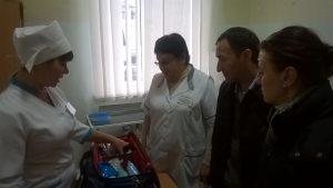 Під час візиту КЗ «Дніпропетровський ЦПМСД №1»