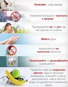 Корисні звички з профілактики грипу